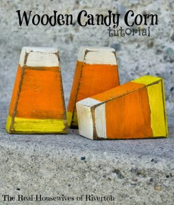 Wooden Candy Corn Craft | www.housewivesofriverton.com