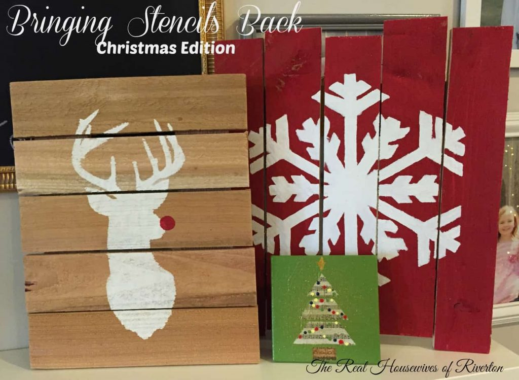 We're bringing Stencil back!!! DIY Stencil Christmas Projects