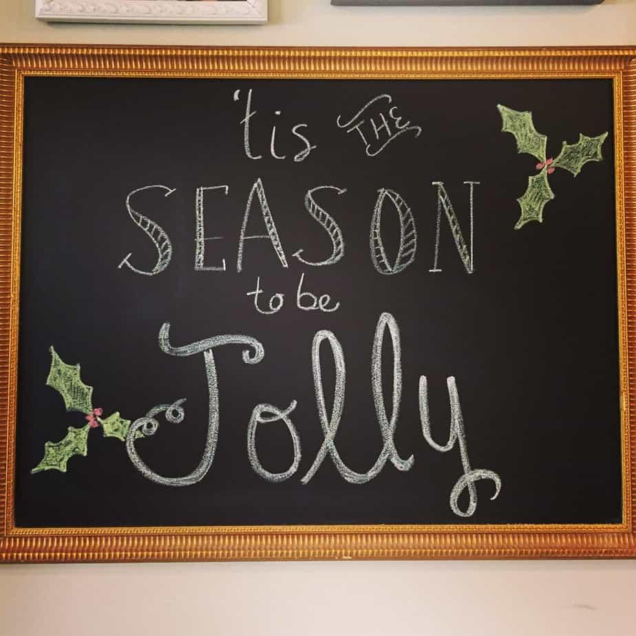 Christmas Chalkboard Art.Christmas Chalkboard Art Inspiration Housewives Of Riverton