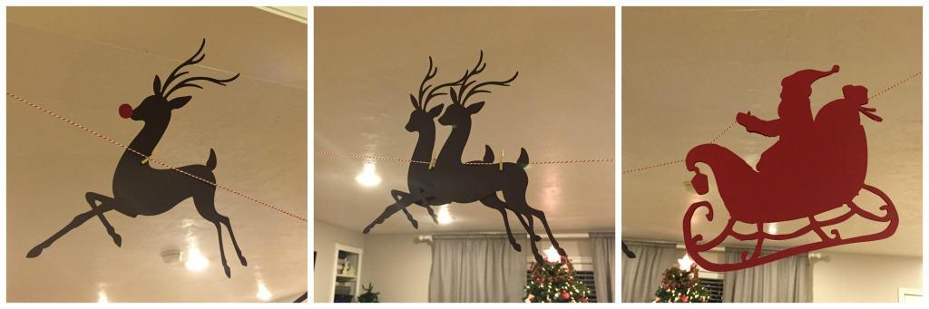 Santa and Reindeer close up photos