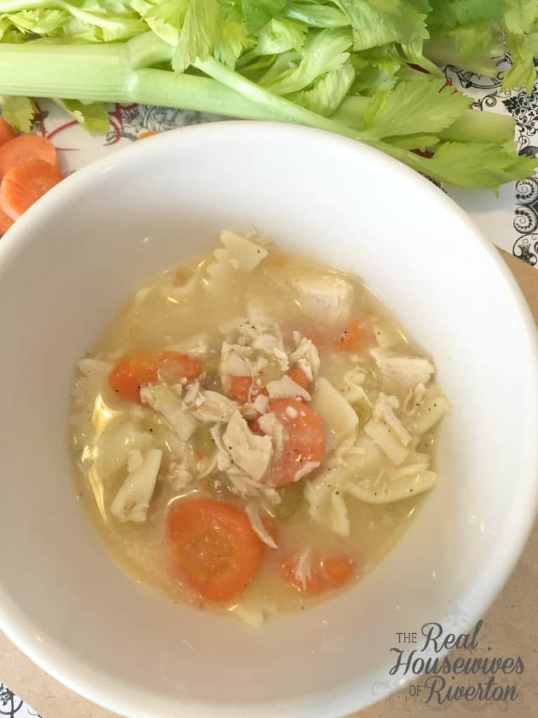 Chicken Noodle Soup close up