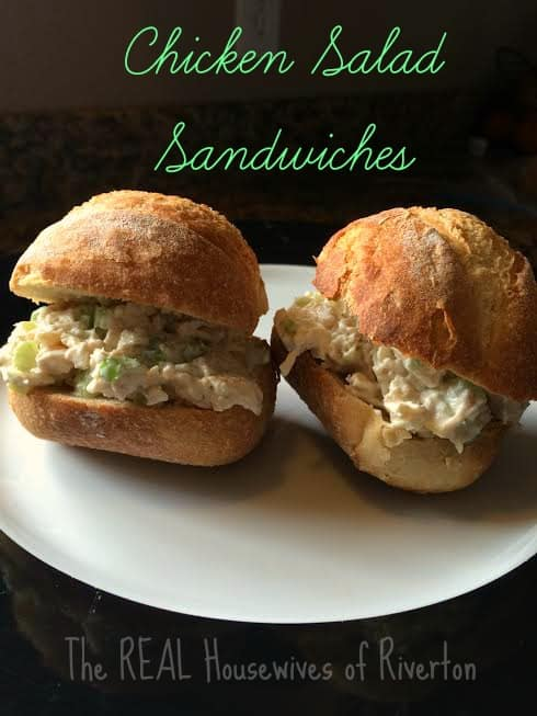 Chicken Salad Sandwiches from The REAL Housewives of Riverton are delicious and easy to make! | www.housewivesofriverton.com