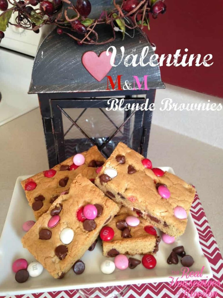 Valentine M&M Blonde Brownies