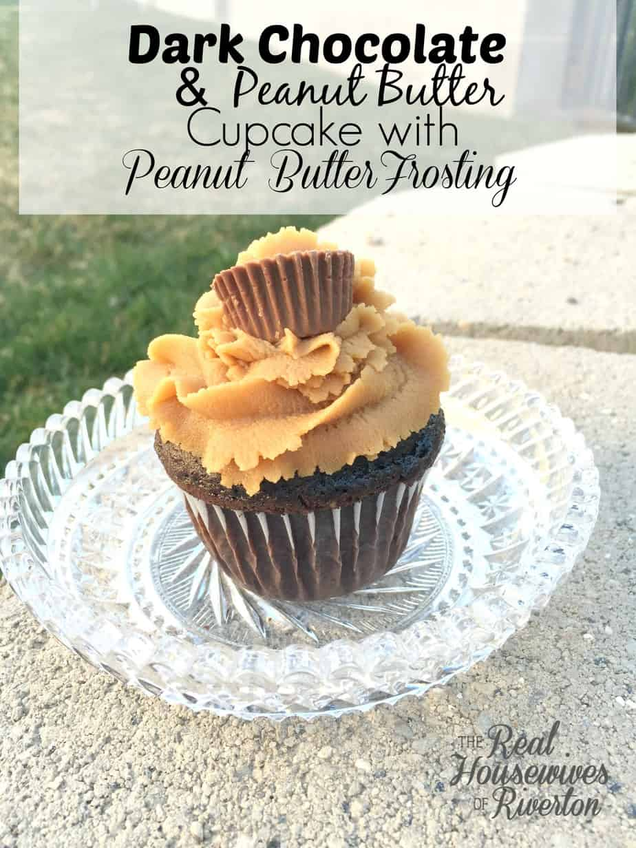 Dark Chocolate and Peanut Butter Cupcakes w/Peanut Butter Frosting Recipe