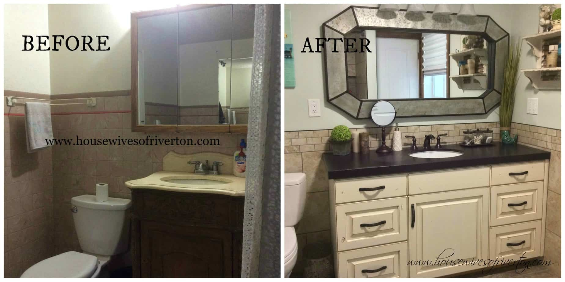 bathroom remodel before & after -