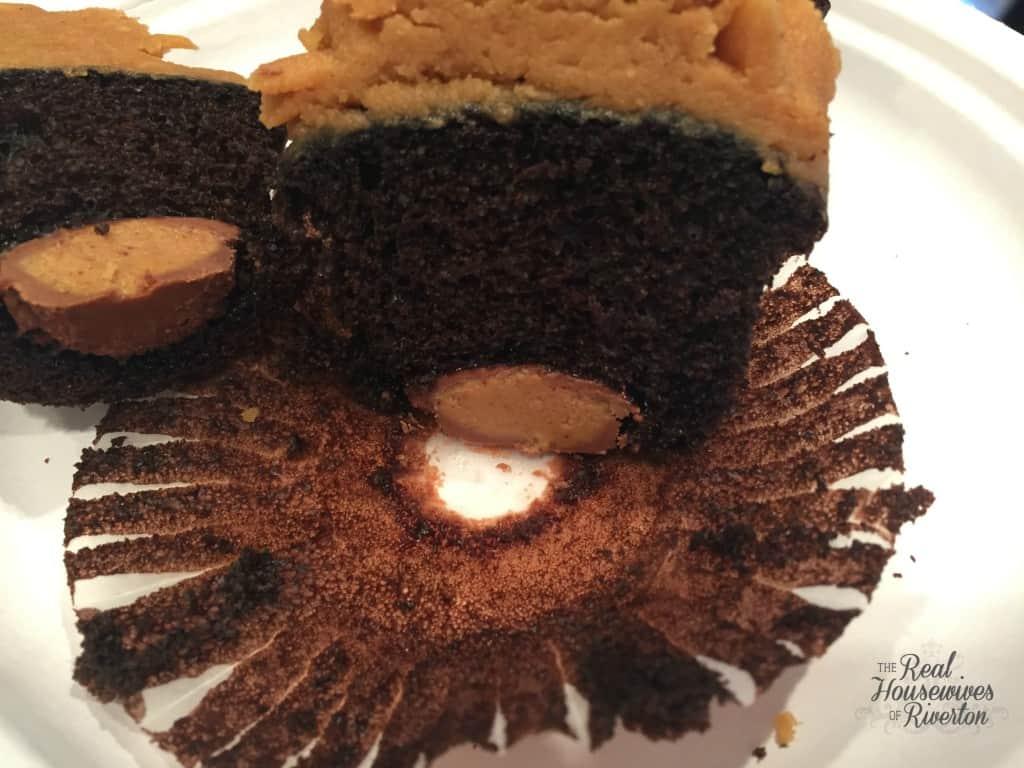 dark chocolate peanut butter inside
