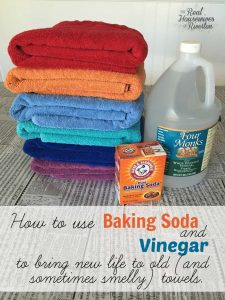use Baking soda and vinegar to clean towels