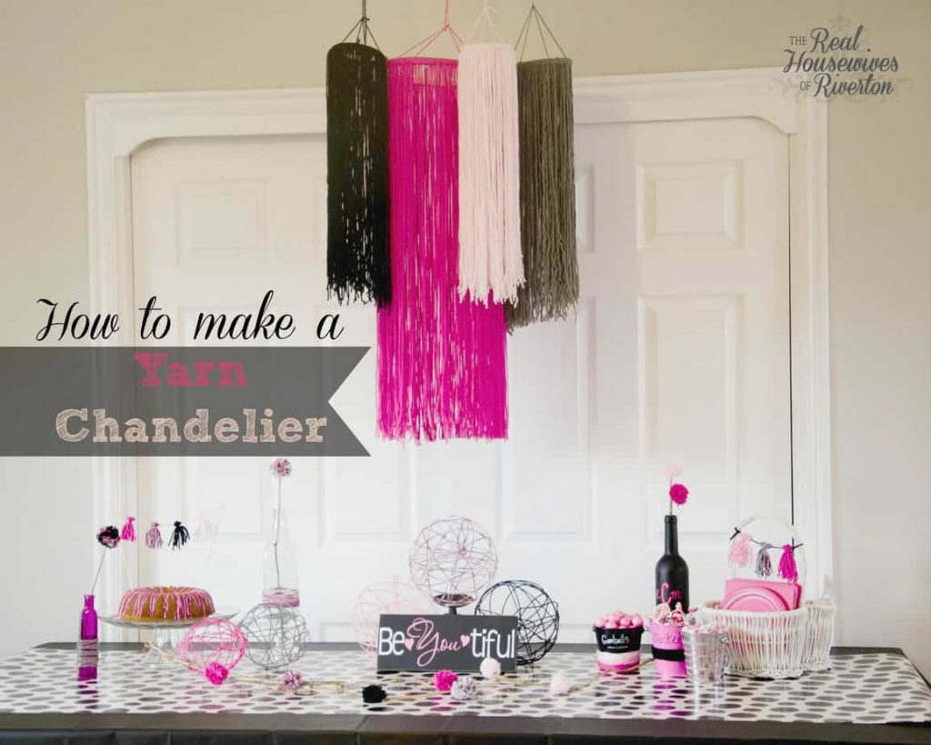 Yarn Chandelier Tutorial – Yarn Party part 1
