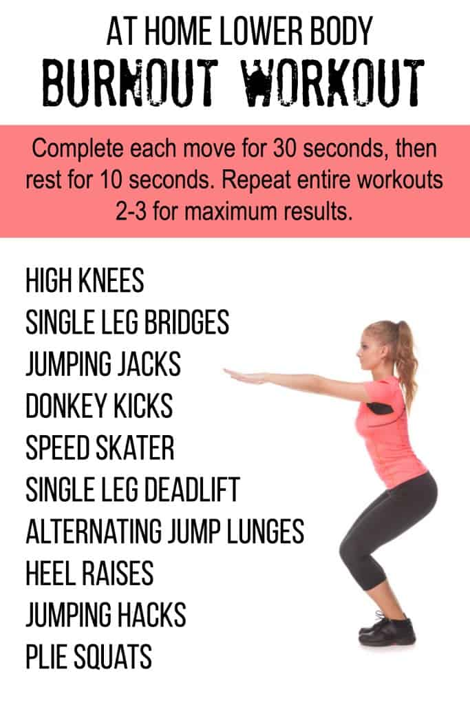 At Home Lower Body Burnout Workout Tone-and-Tighten