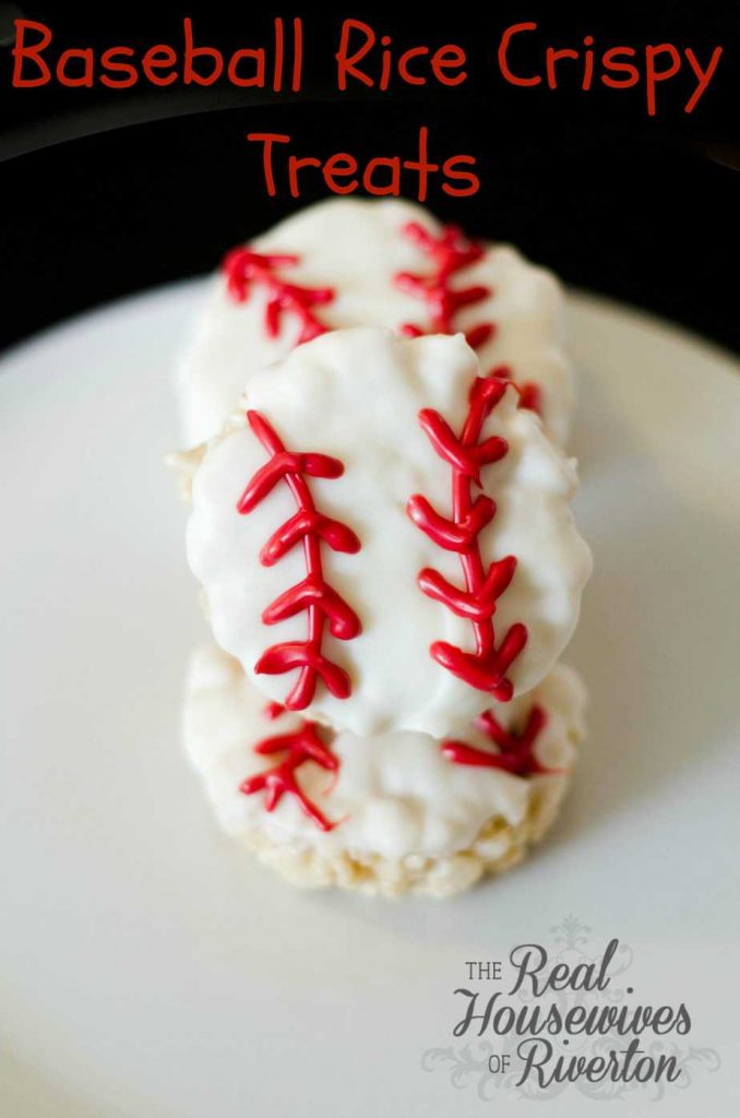 Baseball Rice Crispy Treats from The Housewives of Riverton | www.housewivesofriverton.com