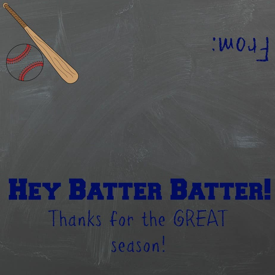 Baseball Treat Printable