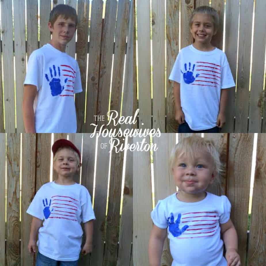 Handprint Flag T Shirts from The Housewives of Riverton | www.housewivesofriverton.com
