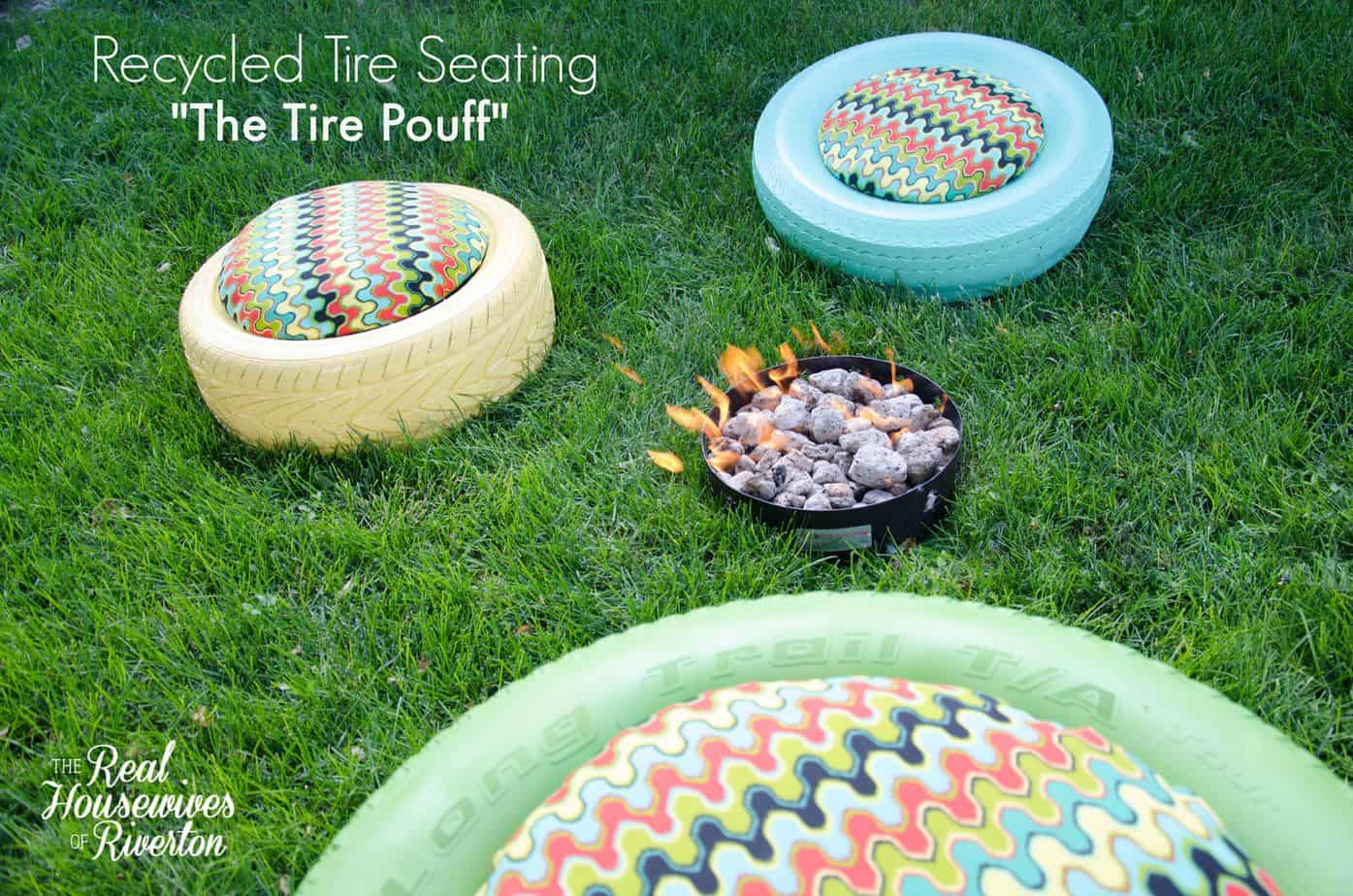 "Recycled Tire Seating – ""The Tire Pouff"""
