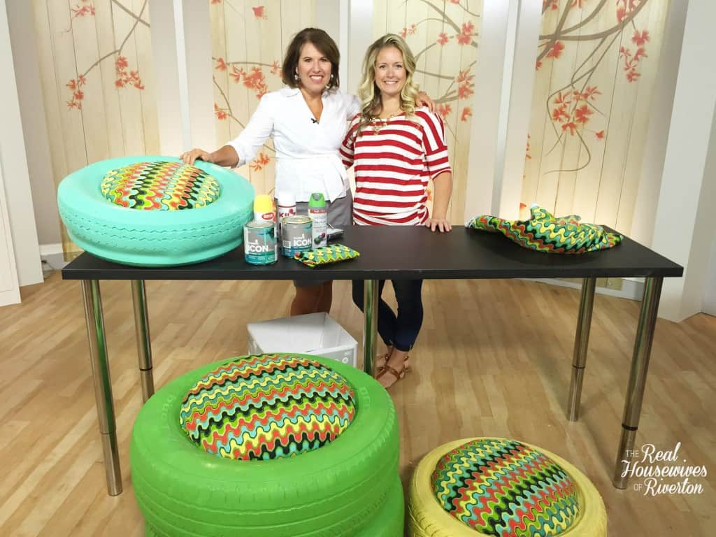 Studio 5 - Recycled Tire Seating