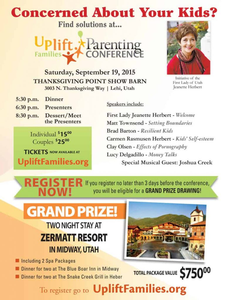 Uplift Families Conference, Discount and Giveaway