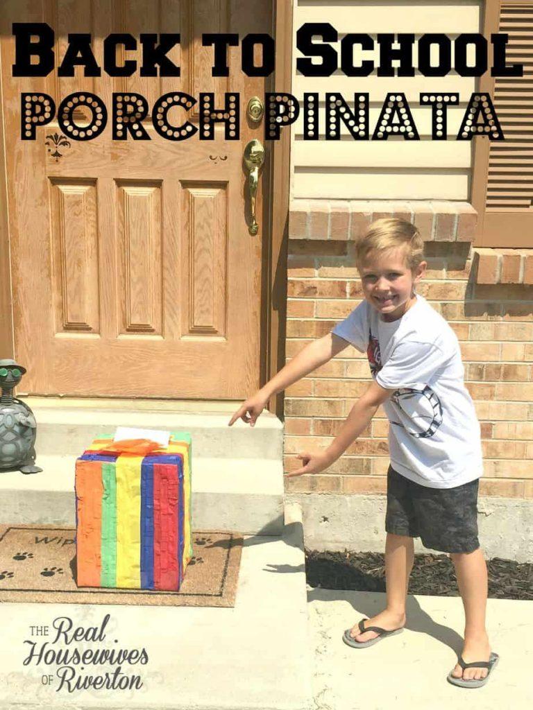 back to school porch pinata