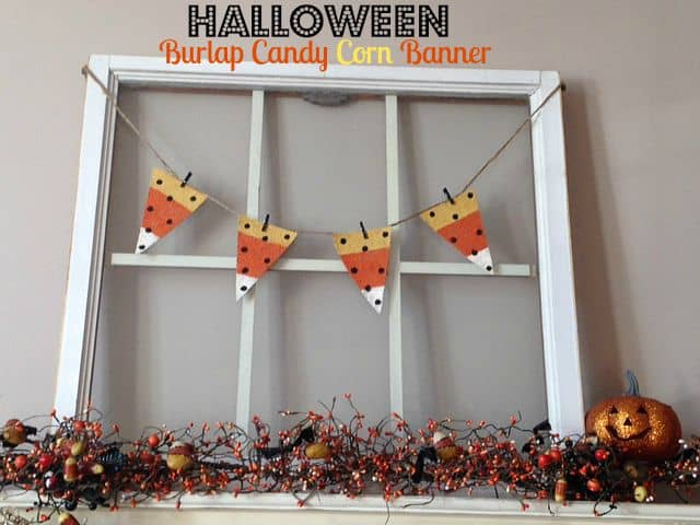 Halloween Burlap Candy Corn Banner