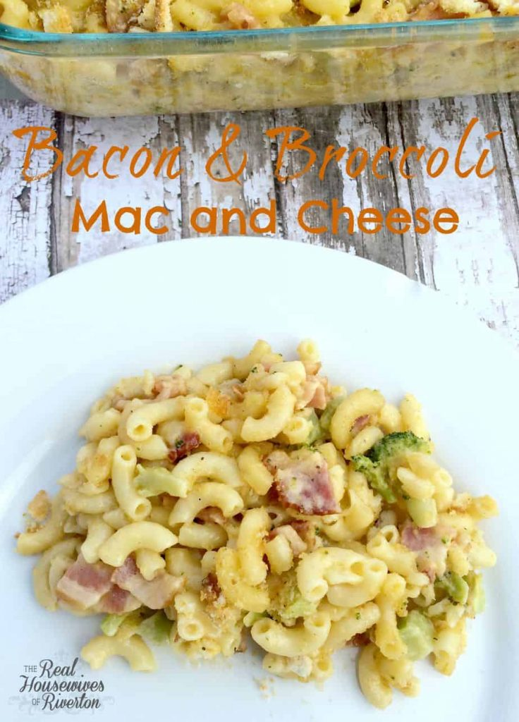 Bacon and Broccoli Mac and Cheese | www.housewivesofriverton.com