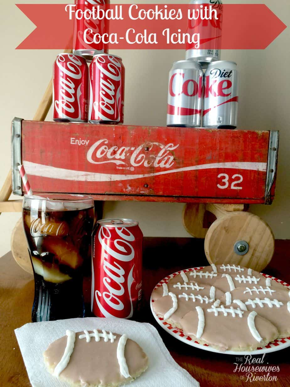 Football Cookies with Coca-Cola Icing