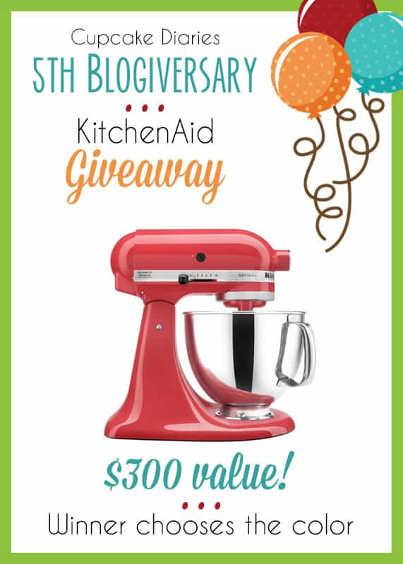 KitchenAid Giveaway for Cupcake Diaries 5th Blogiversary!