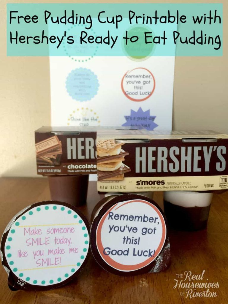 FREE Pudding Cup Printable with Hershey's Ready to Eat Pudding #ReadySetSnack #Ad | www.housewivesofriverton.com
