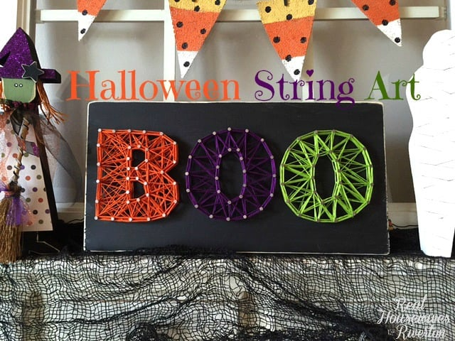 Halloween BOO String Art | www.housewivesofriverton.com