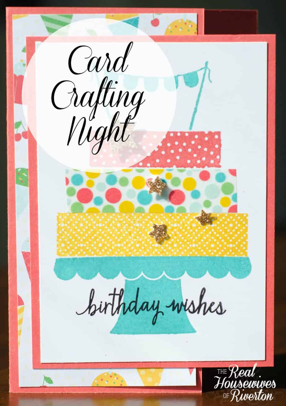 Card crafting night with stampin up housewives of riverton card crafting night housewivesofriverton bookmarktalkfo Choice Image