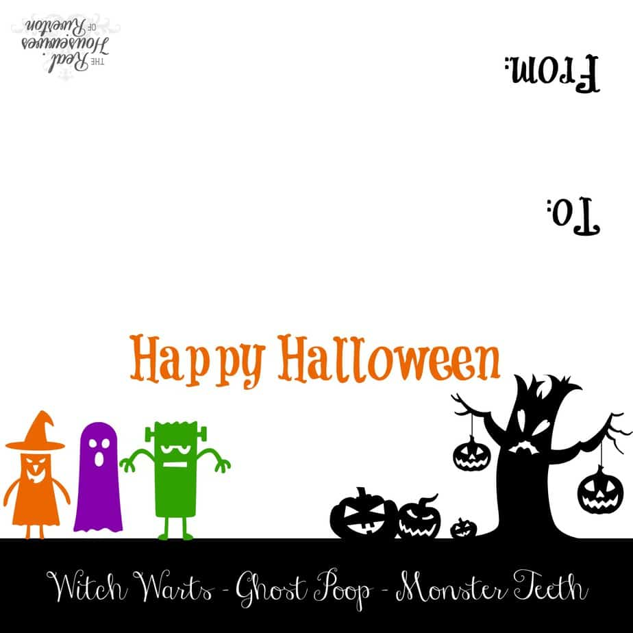 photograph relating to Free Printable Treat Bag Toppers titled Halloween Deal with Bag Topper - Free of charge Printable - Housewives of