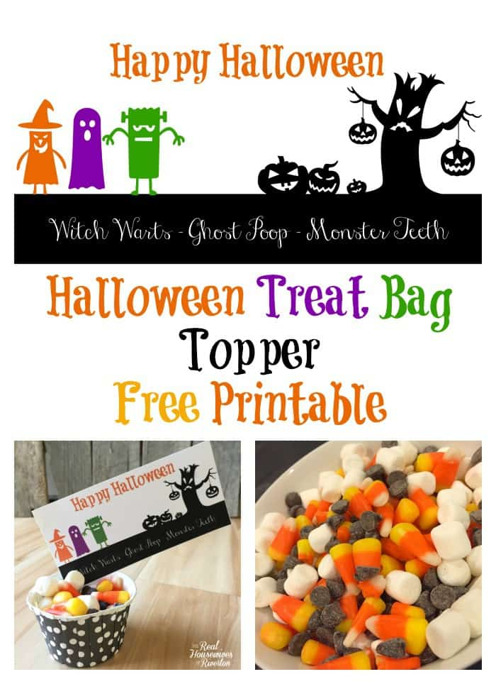 Halloween Treat Bag Topper – Free Printable