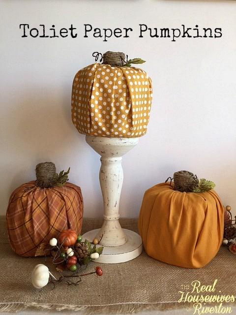 Toliet Paper Pumpkins