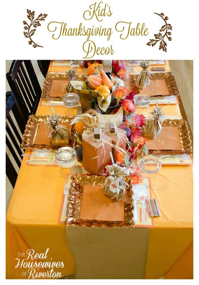 Kid's Thanksgiving Table Decor Housewives Style