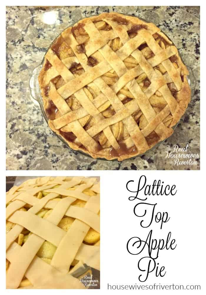 lattice top apple pie recipe - housewivesofriverton.com