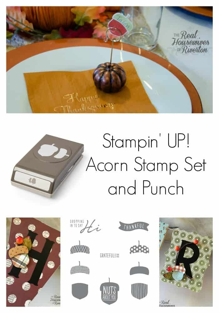 stampin up acorn stamp set and punch