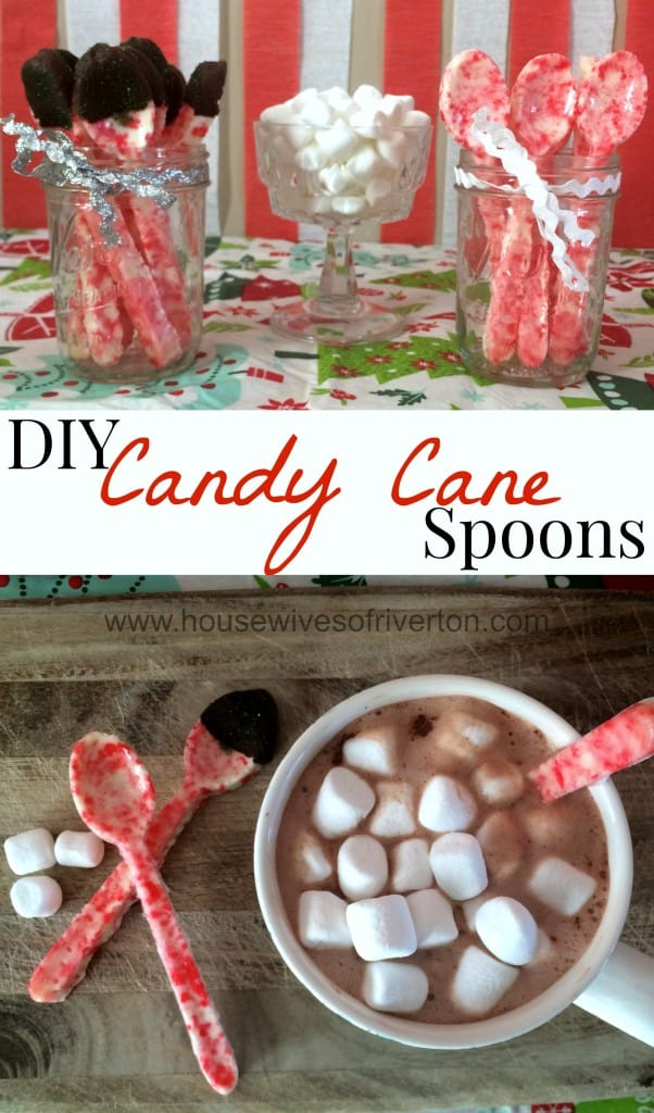 DIY Candy Cane Spoons