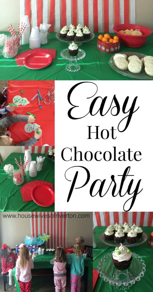 An Easy Hot Chocolate Party is the perfect way to celebrate a winter birthday! | www.housewivesofriverton.com