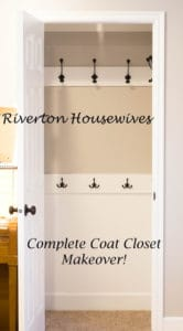 Complete Coat Closet Makeover | www.housewivesofriverton.com