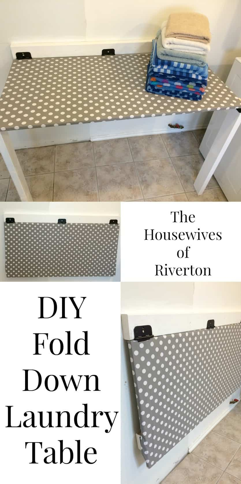 DIY Drop Down Laundry Table