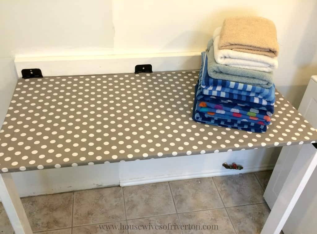 DIY Fold Down Laundry Table | Www.housewivesofriverton.com Part 14