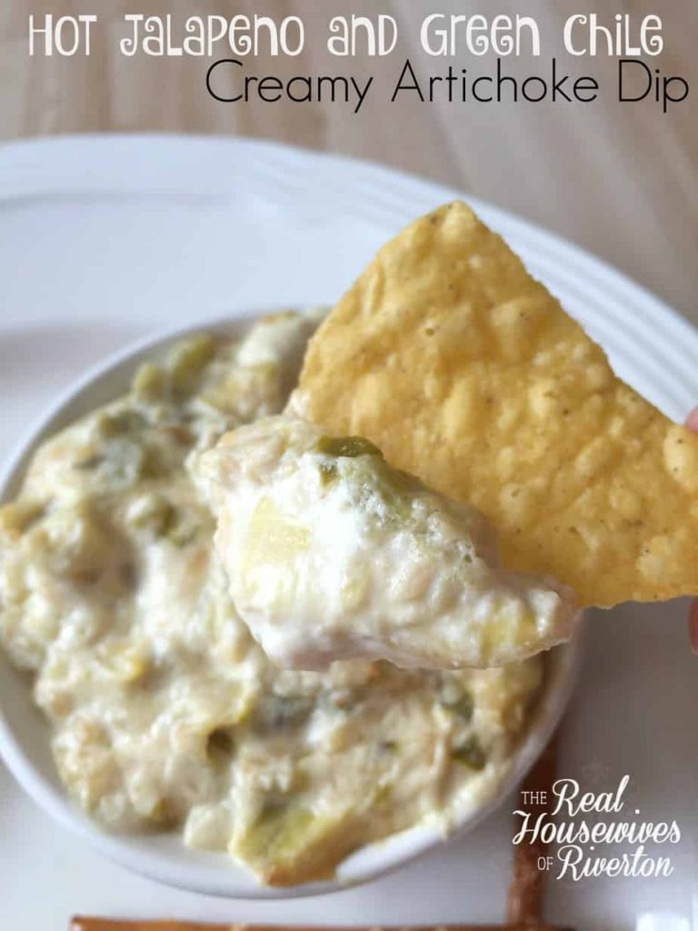 Hot Jalapeno and Green Chile Creamy Artichoke Dip –