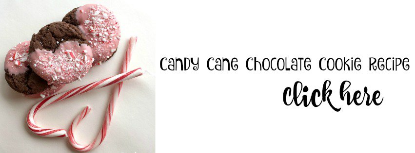 candy cane chocolate cookie