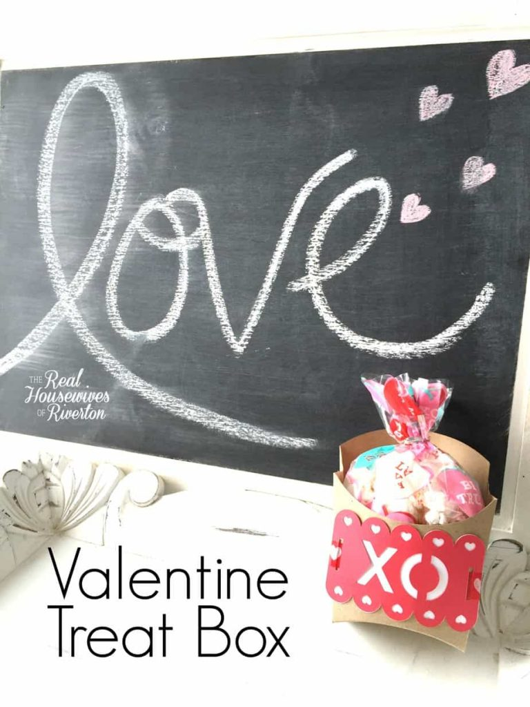 Simple XOXO Valentine Treat Box