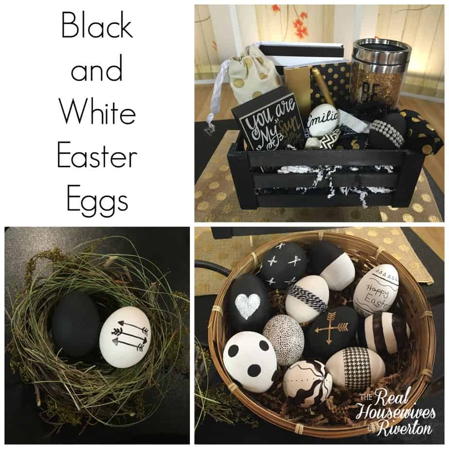 Black and White Easter Eggs Tutorial and Video