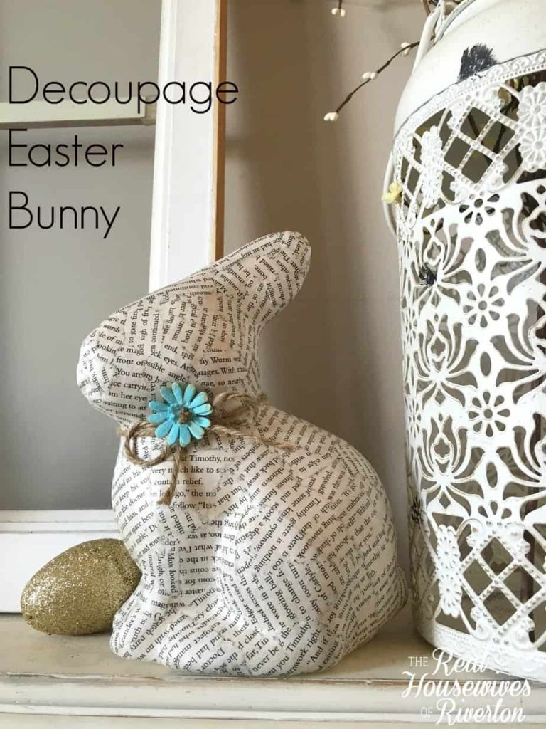 Decoupage Easter Bunny