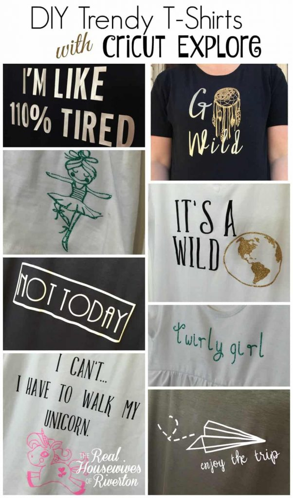 DIY Trendy T-Shirts with Cricut Explore Air