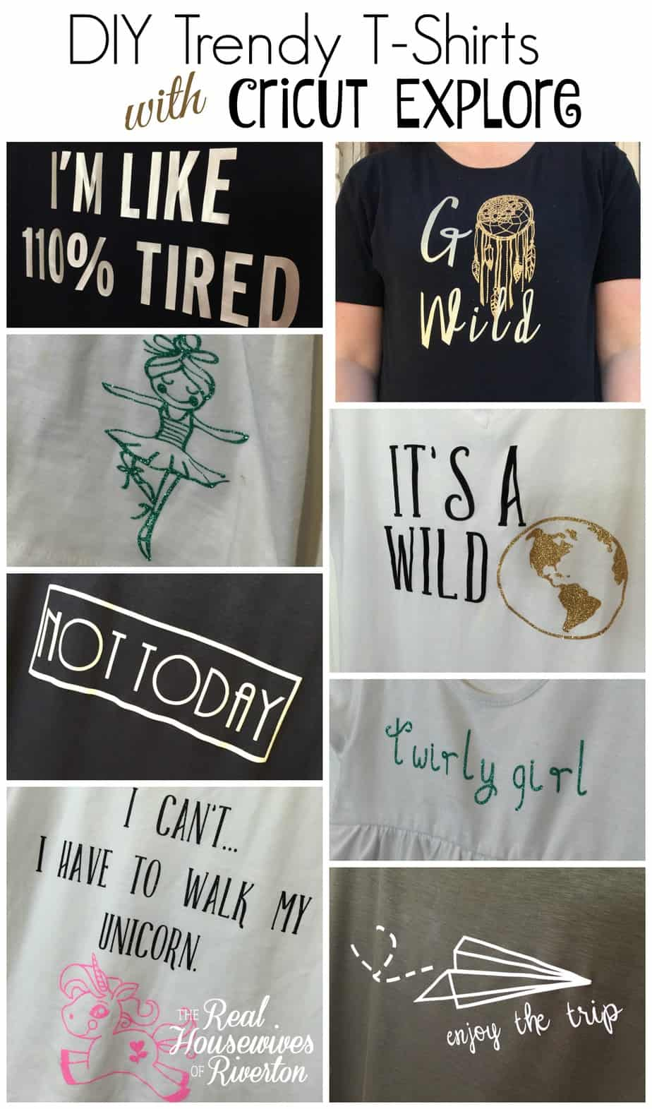 DIY Trendy TShirts With Cricut Explore Air - How to make vinyl decals using cricut