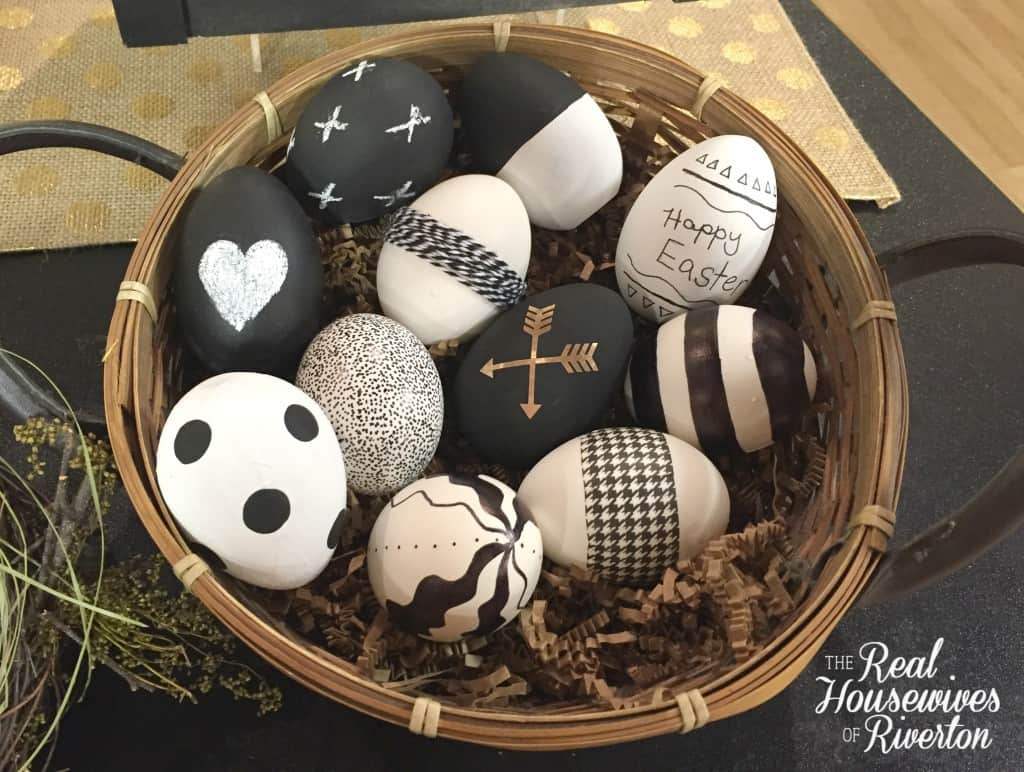 black and white Easter eggs - housewivesofriverton.com