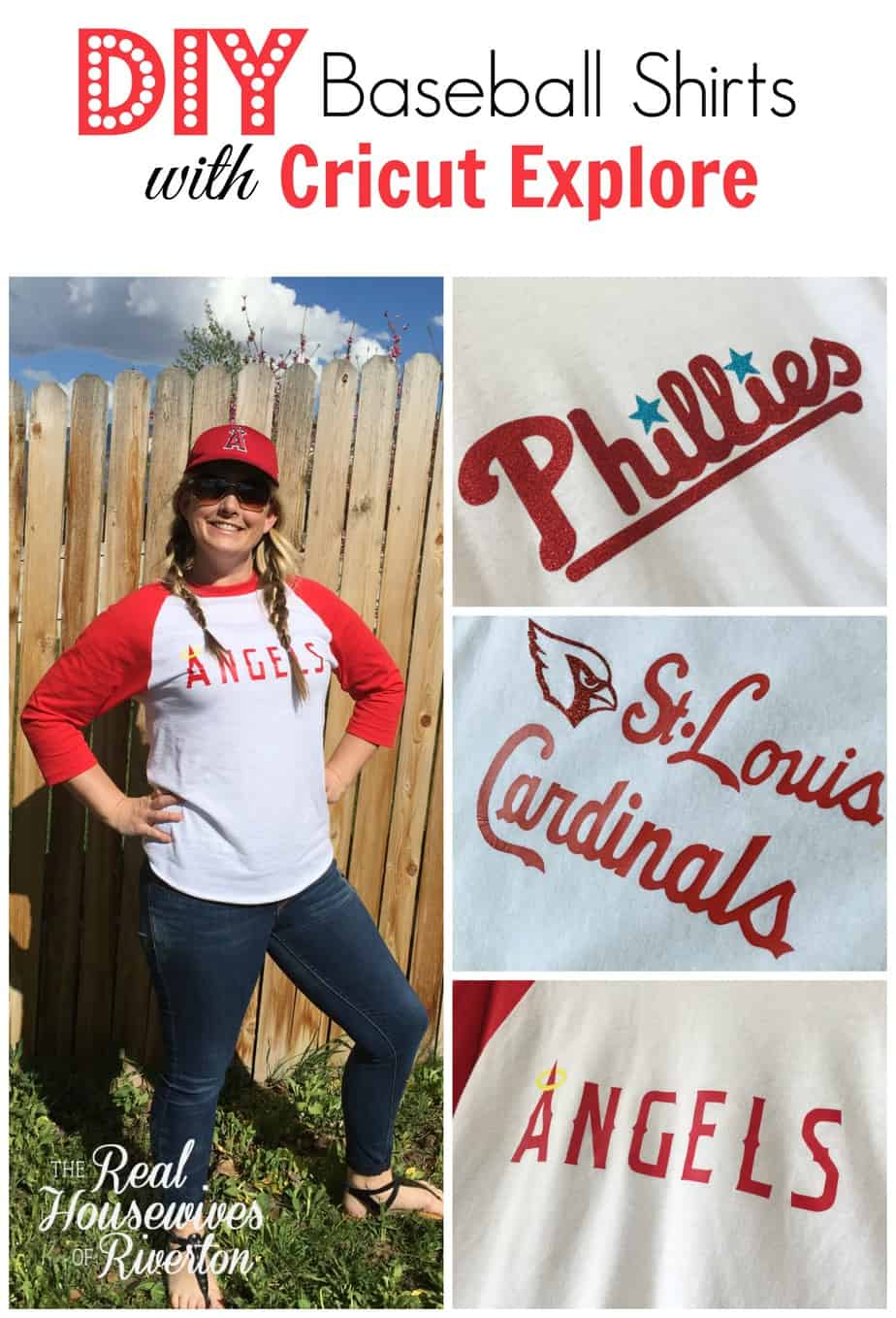 DIY Baseball Shirts with Cricut Explore