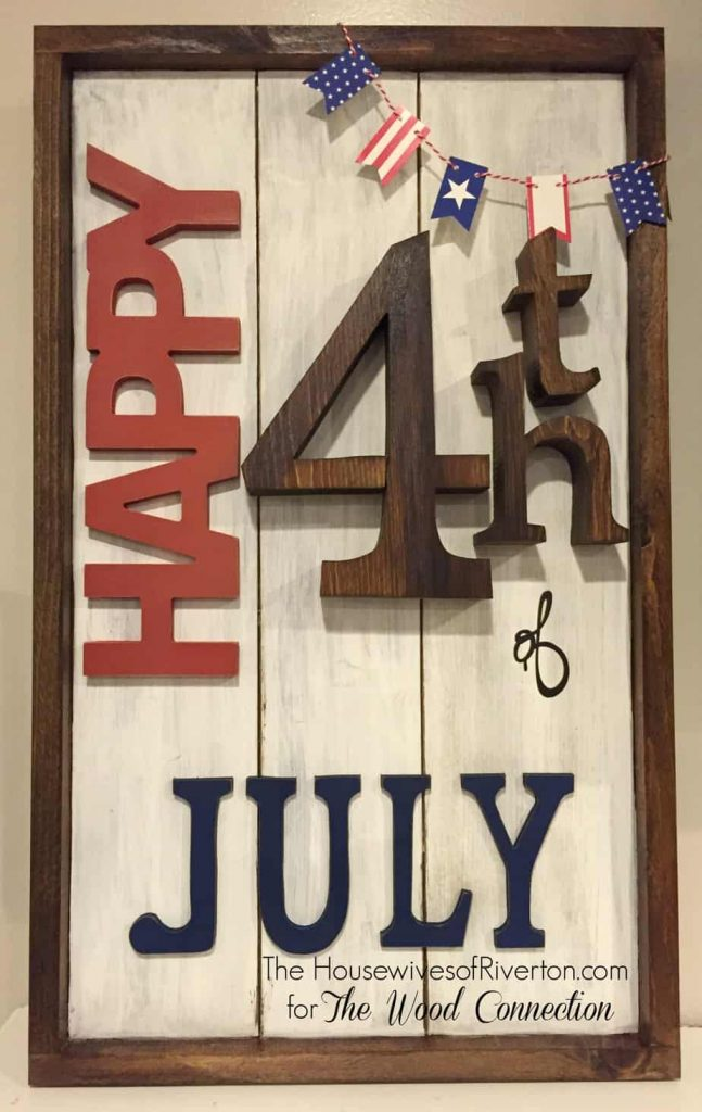 4th of July Wooden Plank Sign Tutorial