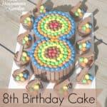 8th Birthday Cake – Candy Cake DIY