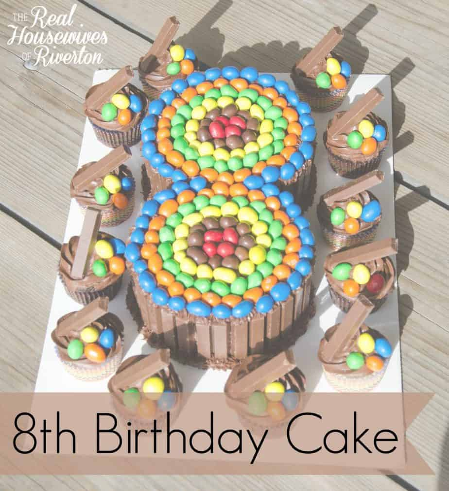 8th Birthday Cake – Candy Cake DIY